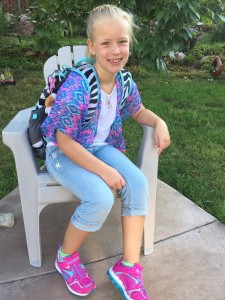 Sarah's first day of school as a 3rd grader.